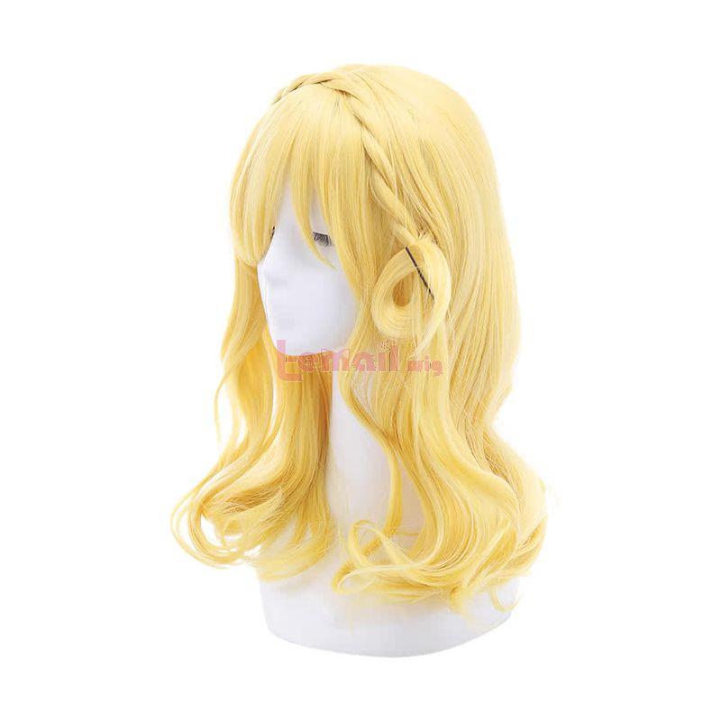 LoveLive!Sunshine!! Ohara Mari Bright Yellow Braid Cosplay Wigs