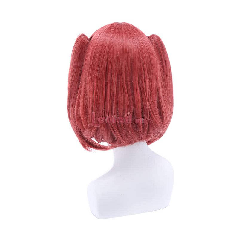 LoveLive!Sunshine!! Kurosawa Ruby Raspberry Pink Short Straight Cosplay Wigs Hair