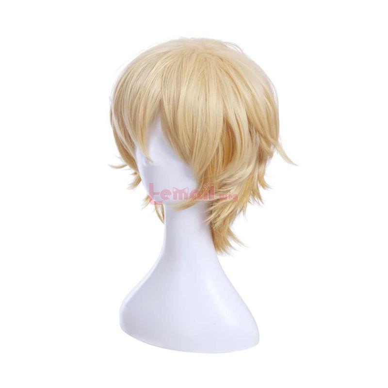 Anime Hataraku Saibou Killer T Cell Short Gold Cosplay Wigs Cells At Work