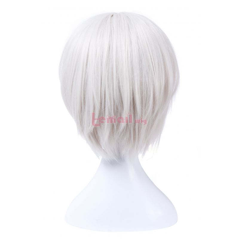 NieR:Automata YoRHa No. 2 Type B Short Straight Silver Synthetic Hair Cosplay Wigs