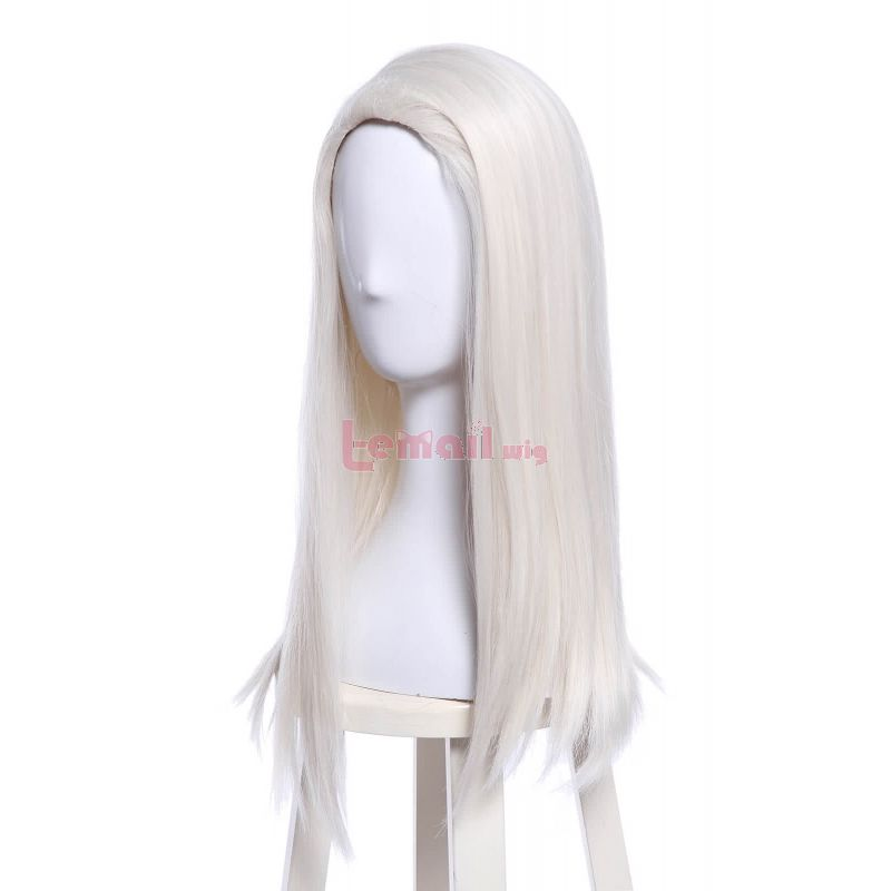 Movie Harry Potter Lucius Malfoy Long Straight Silver Cosplay Wig