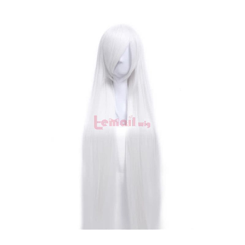 150cm Supper Long Straight White cosplay party wig ZY50C