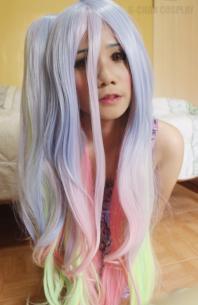 No Game No Life Shiro120cm Long Cosplay Wigs L Email Wig