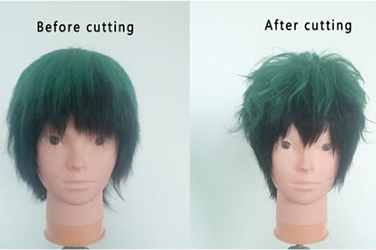 how to style Deku wig.