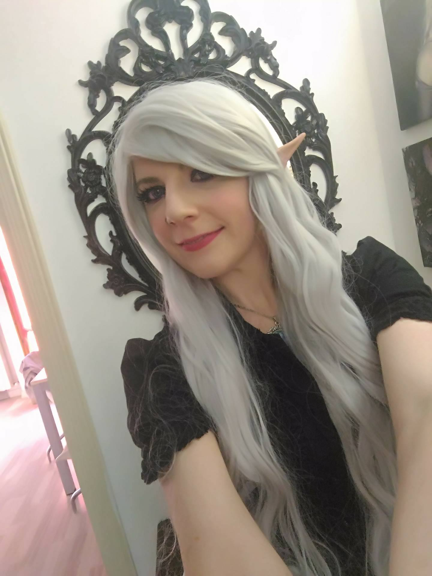 100cm Long Silver Wavy Cosplay Wigs CB64I - L-email ...