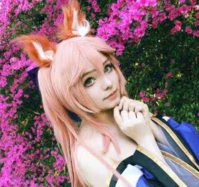 FateGrand_Order_Tamamonomae_Long_Peach_Synthetic_Anime_Cosplay_Wigs.jpg