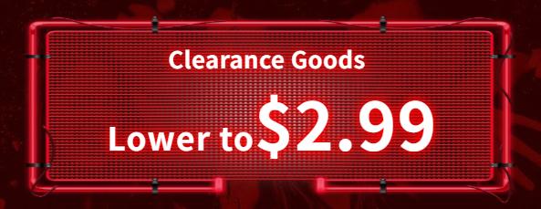 clearance goods sale
