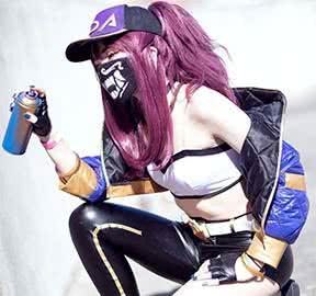 kda akali cosplay wigs