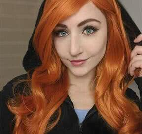 long orange synthetic wigs